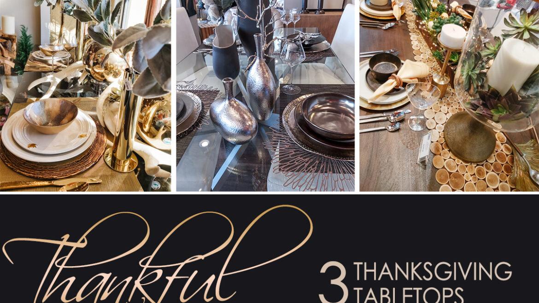 Three Thanksgiving Tabletops