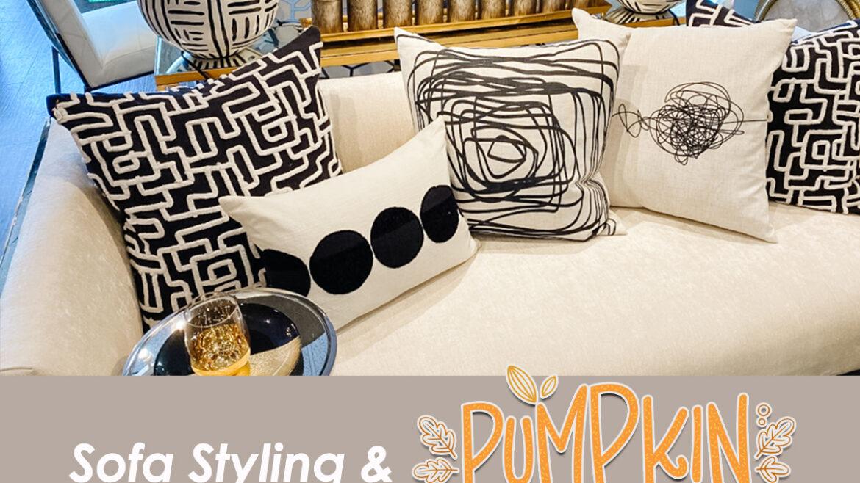 Sofa Styling & Pumpkin Spice